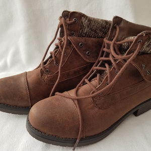 FADED GLORY Womens Brown Ankle Boots Size 9 EUC
